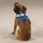 View Image 1 of Mod Print Fabric Dog Harness - Blue