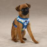 View Image 2 of Mod Print Fabric Dog Harness - Blue