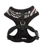 View Image 2 of Modern Zebra Dog Harness by Puppia - Black