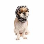 View Image 1 of Modern Zebra Dog Snood by Puppia - Black