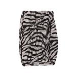 View Image 2 of Modern Zebra Dog Snood by Puppia - Black