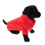 View Image 1 of Mohair Cable Knit Sweater - Red