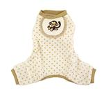 View Image 1 of Monkey Design Dog Pajamas - Beige