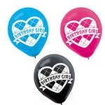 Monster High Party Supplies - Argyle Printed Latex Balloons