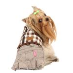 View Image 4 of Motley Dog Skirt by Pinkaholic - Brown