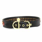 View Image 3 of Multi-Colored Crystal Dog Collar - Black