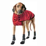 View Image 2 of Muttluks Belted Dog Coat - Red