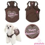 View Image 2 of My Valentine Dog Shirt by Pinkaholic - Brown