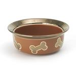 View Image 1 of Napa Matte Metallic Dog Bowl - Copper