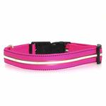 View Image 3 of Neon Dog Collar with White LEDs - Hot Pink