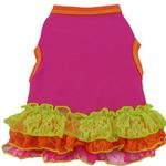 View Image 1 of Neon Geo Lace Dog Dress