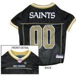 View Image 1 of New Orleans Saints Officially Licensed Dog Jersey - Gold Trim