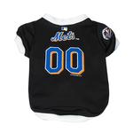 New York Mets Baseball Dog Jersey - Black with White Trim
