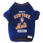 New York Mets Dog T-Shirt - Blue