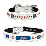 New York Mets Leather Dog Collar