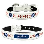 New York Yankees Leather Dog Collar