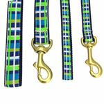 View Image 2 of Newport Plaid Dog Leash by Up Country