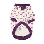 View Image 2 of Nila Hooded Dog Shirt by Pinkaholic - Purple