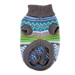 View Image 4 of Northern Lights Dog Sweater - Blue