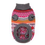 View Image 4 of Northern Lights Dog Sweater - Raspberry