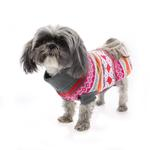 View Image 5 of Northern Lights Dog Sweater - Raspberry