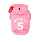 View Image 1 of Number 5 Dog Hoodie by Puppia - Pink