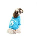 View Image 3 of Number 5 Dog Hoodie by Puppia - Sky Blue