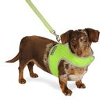 View Image 1 of Nylon-Fleece Dog Vest Harness - Lime Green
