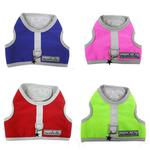 View Image 3 of Nylon-Fleece Dog Vest Harness - Lime Green