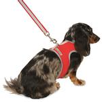View Image 1 of Nylon-Fleece Dog Vest Harness - Red