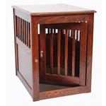 View Image 6 of Oak End Table Dog Crate - Mahogany
