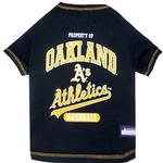 Oakland Athletics Dog T-Shirt - Green