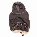 View Image 1 of On-the-Go Heathered Dog Hoodie - Charcoal Heather