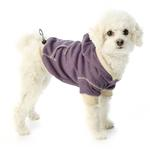 View Image 1 of On-the-Go Heathered Dog Hoodie - Dusty Grape