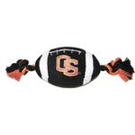 View Image 1 of Oregon State Beavers Plush Football Dog Toy