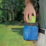 View Image 2 of Outward Hound Treat 'N Ball Bag - Blue and Black