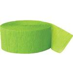 Party Supplies - Lime Green Streamer