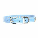 View Image 2 of Patent Pearl & Crystal Dog Collar - Baby Blue