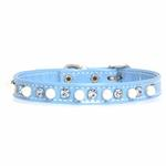 View Image 3 of Patent Pearl & Crystal Dog Collar - Baby Blue