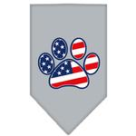 View Image 1 of Patriotic Paw Dog Bandana - Gray