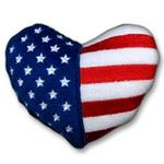 View Image 1 of Patriotic Plush Dog Toy - Heart
