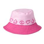 View Image 1 of Peace Bucket Hat by Doggles - Pink