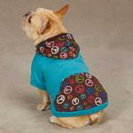 View Image 2 of Peace Out Pullover Dog Hoodie - Bluebird