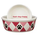 View Image 1 of Pet Studio Andover Dog Dishes - Raspberry Sorbet