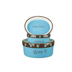 View Image 3 of Pet Studio Cutie Paw Pet Dishes - Blue