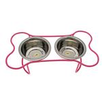 View Image 1 of Petite Bone Dog Diner - Pink