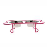 View Image 2 of Petite Bone Dog Diner - Pink