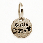Pewter Dog Collar Charm or Cat Collar Charm: Cutie Pie