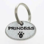 View Image 1 of Pewter Dog Collar Charm or Cat Collar Charm: Princess
