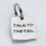 View Image 1 of Pewter Dog Collar Charm or Cat Collar Charm: Talk to the Tail